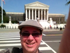 David Abrams in front of the US Supreme Court