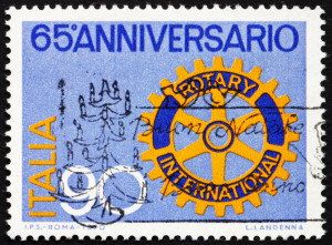 Postage stamp Italy 1970 Rotary Emblem