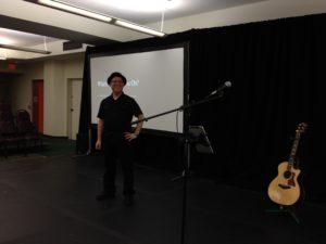 Preparing to perform at the 2014 Orlando Fringe Festival