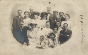 My Grandfather's Family in 1909. He is the boy seated at the very front center.