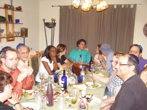 Our dining room table has hosted many wonderful dinners.