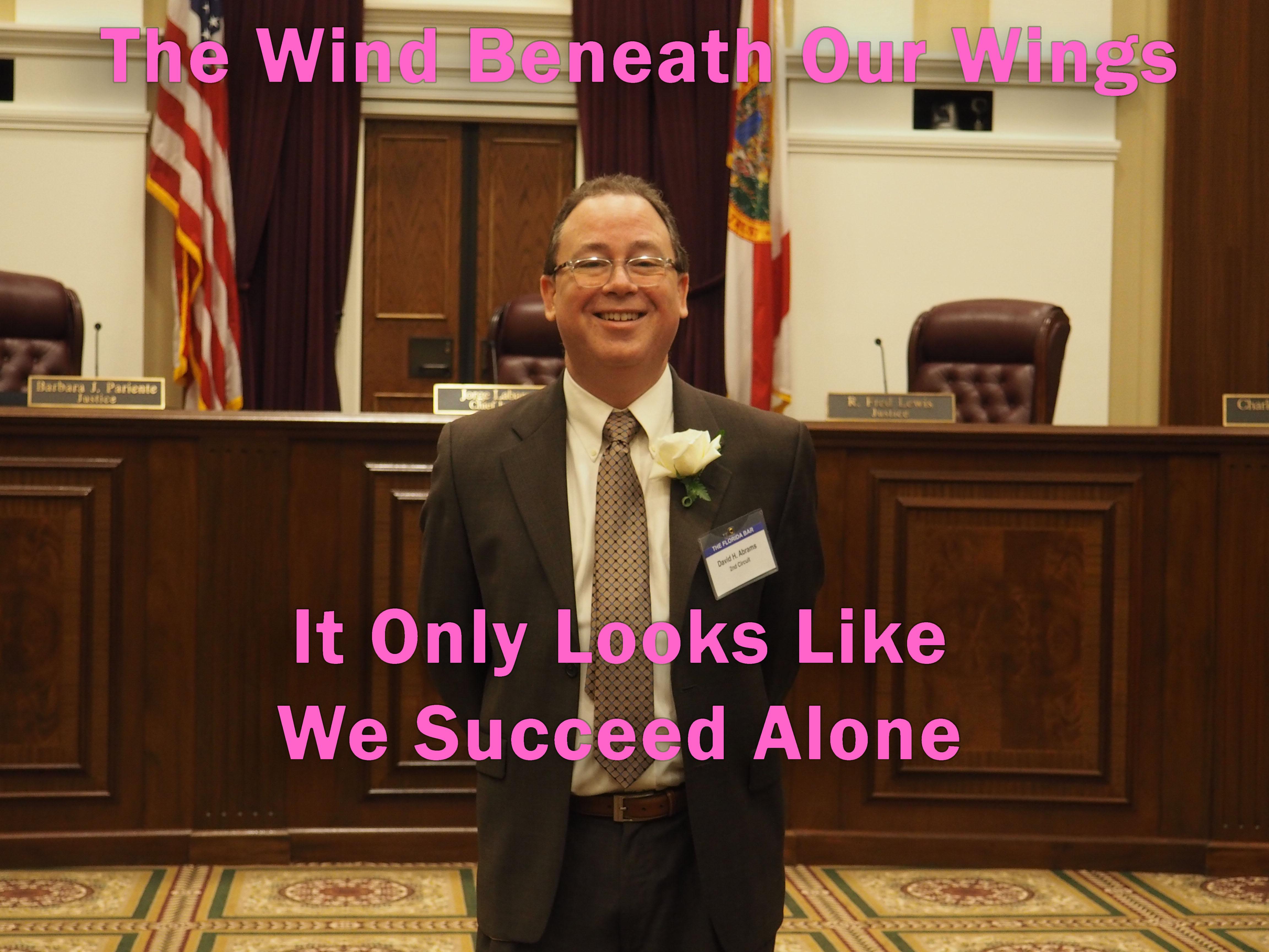 The Wind Beneath My Wings At the Florida Bar President's Pro Bono Award